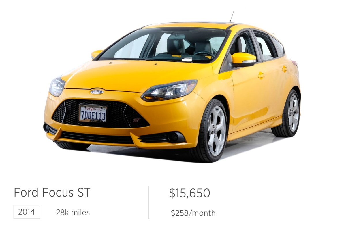 great used car deals ford focus