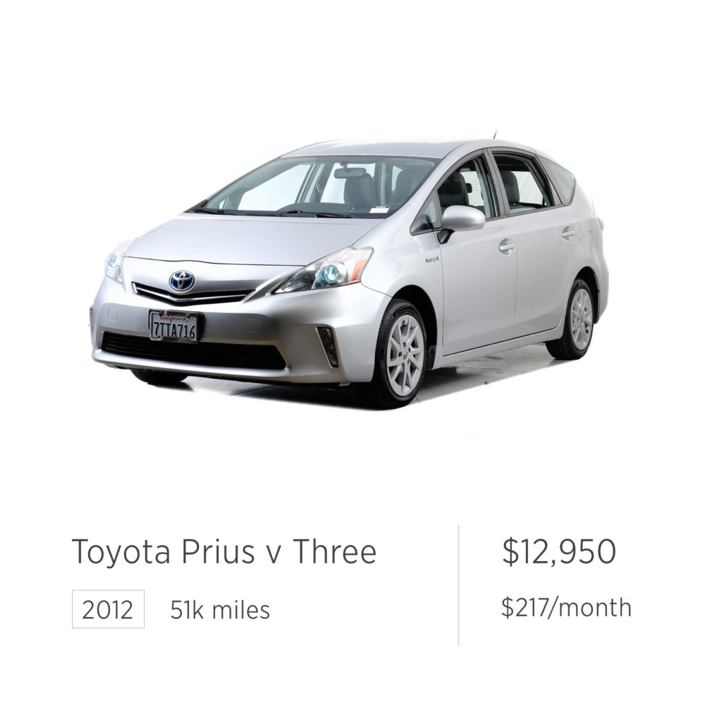 used car deal toyota prius